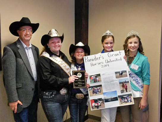 2014 Parader's Grant was awarded to Horses Unlimited