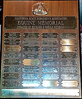 Equine Memorial Plaque