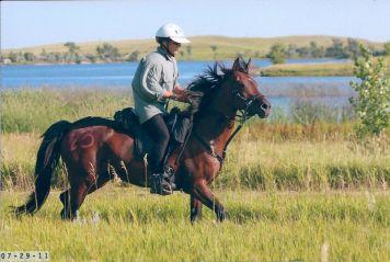Bob Bischoff and Kenlyn Destine Fort Meade Remount Pioneer, SD 2011