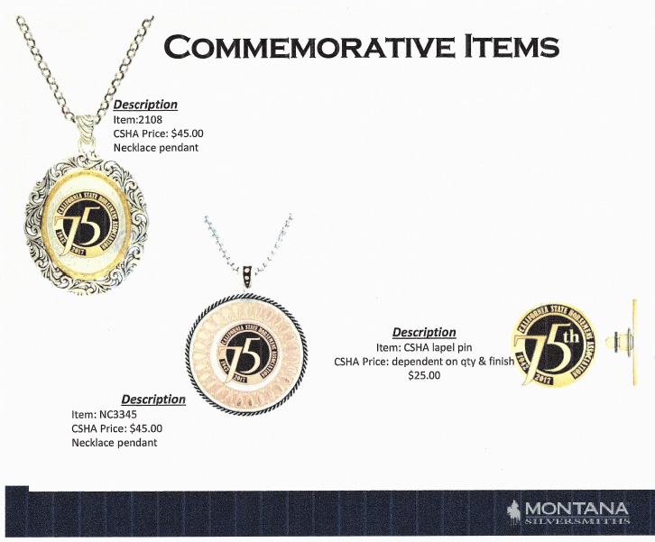 75th Anniversary Commemorative Items
