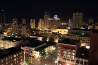Gaslamp District in San Diego at Night - California ...