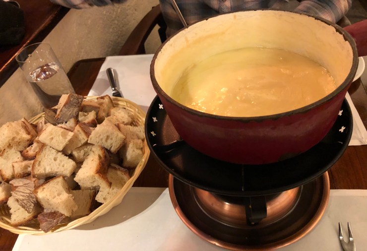 basel, switzerland fondue