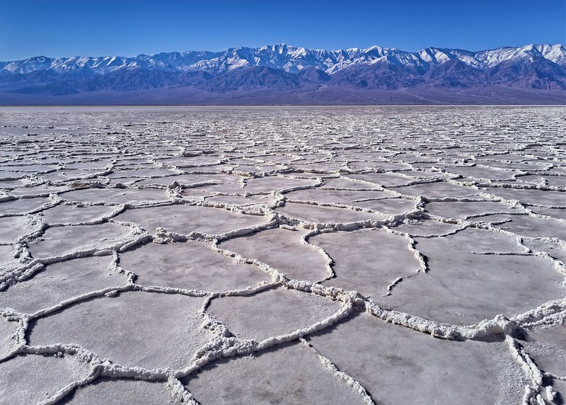 Badwater basin in Death Valley is the lowest point int he US