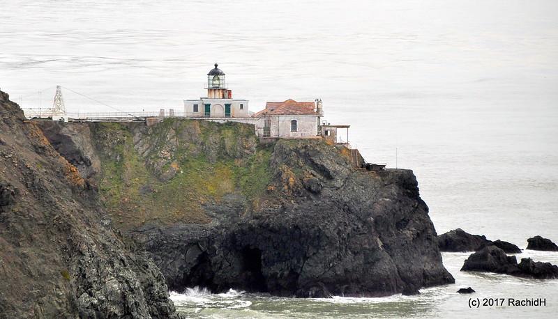 The Point Bonita Lighthouse is a California landmark in the Marin Headlands