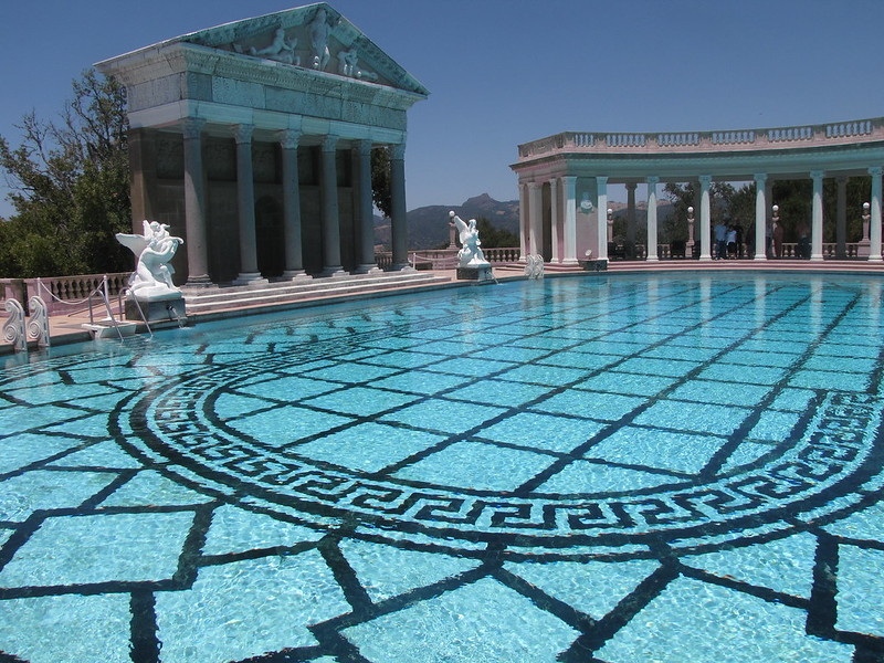 The pool at Hearst Castle