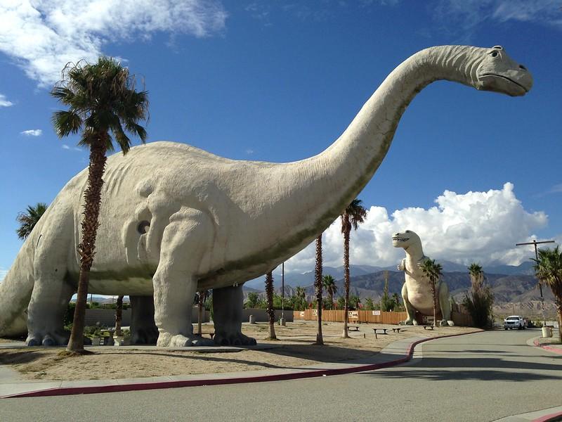 Cabazon Dinosaurs are a landmark in the California Desert