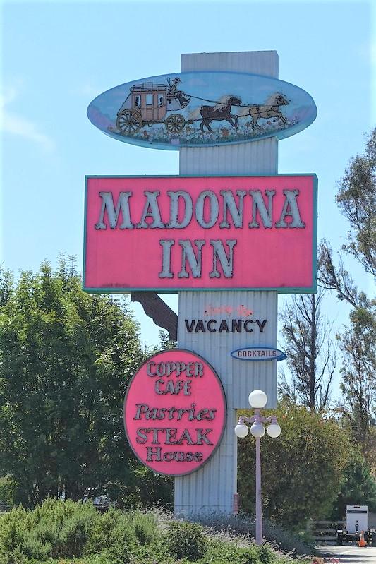 Madonna Inn road sign