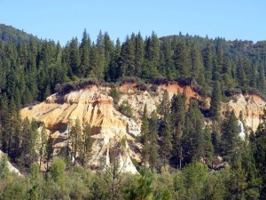 Reminders of hydraulic mining at Malakoff Diggins State Park. Source: California  Department of Water Resoources