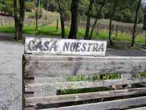 CASA NUESTRA WINERY SIGN