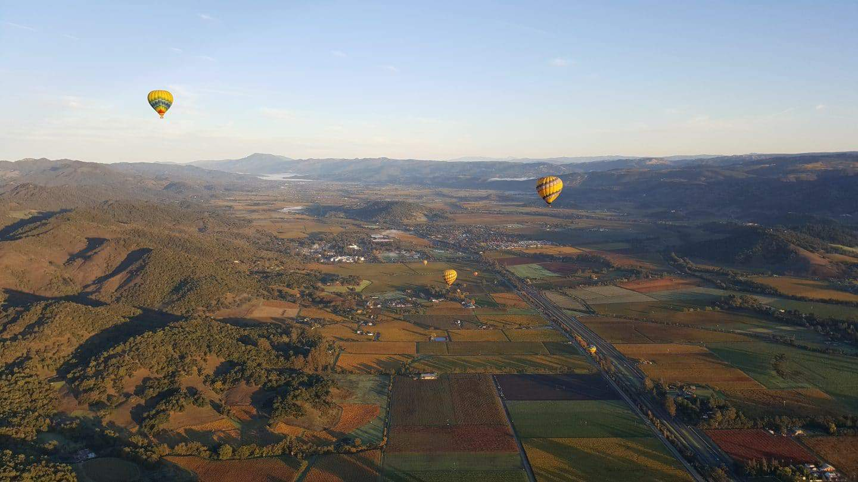 hot air balloon napa