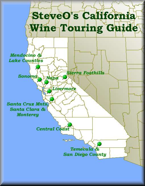Wine Regions Of California Map