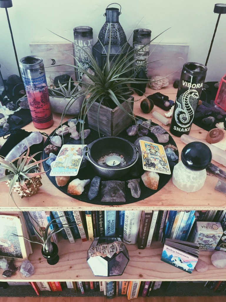 creating an altar for witchcraft