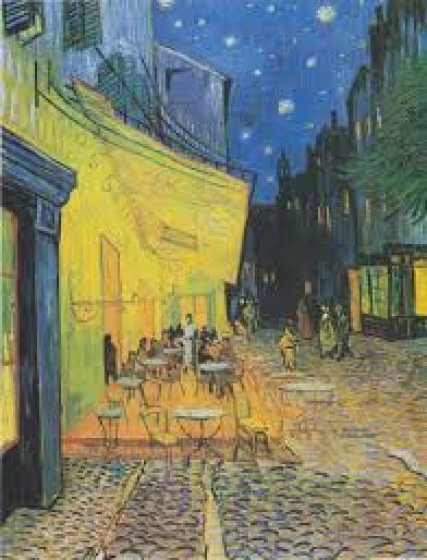 Célèbre toile de Van Gogh qui représente une terrasse à Arles, dans le sud de la France.
