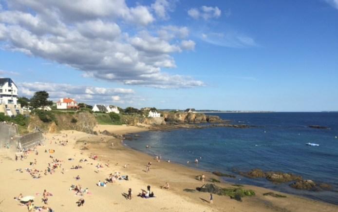 La plage du Pouldu en Bretagne.