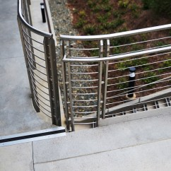 Corrugated Steel Chair Rail Best Dxracer Home California Sheet Metal Custom Railings And Guardrail Systems