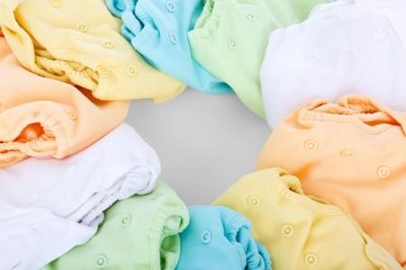 couches lavables colorées