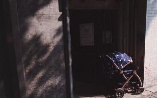 poussette au soleil