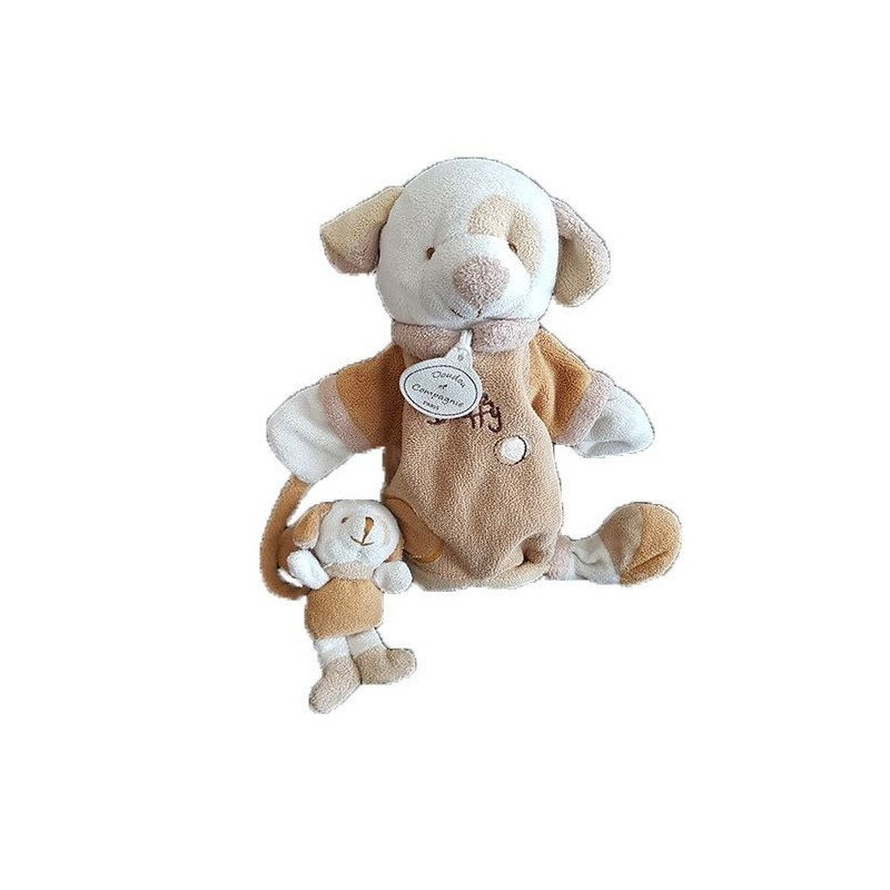 doudou doudou et compagnie chien marron marionnette