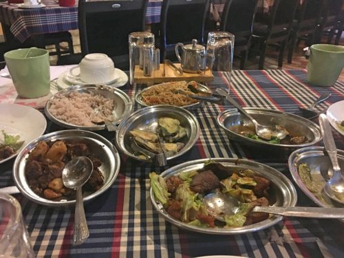 Many different traditional dishes
