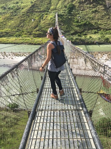 Longest suspension bridge in the country in punakha