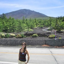 Me with Mt. Fuji in the distance, solo travel