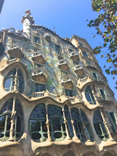 Gaudi House on my free walking tour