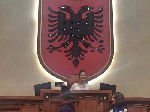 Me as a member of Albanian Parliament