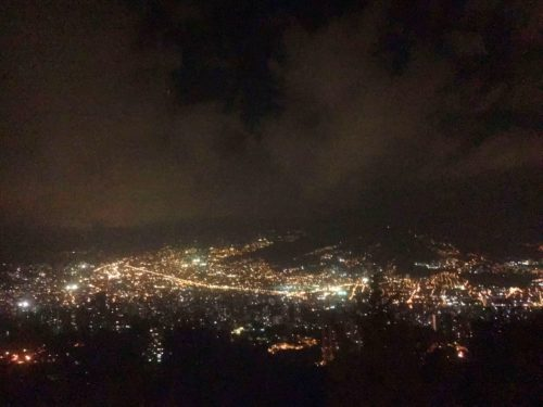 City lights from Las Palmas Medellin