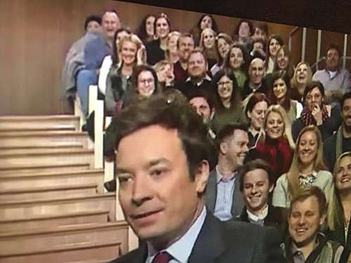 Audience at the taping of Jimmy Fallon in New York City