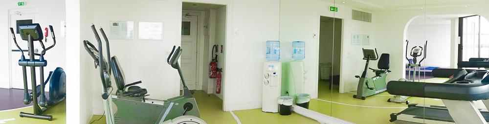 holiday inn, nice, france gym room