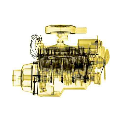 David Arky x-ray photograph: engine