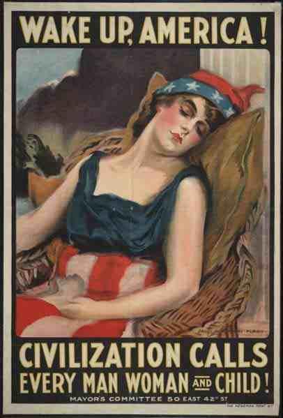 World War I propaganda poster: James Montgomery Flag