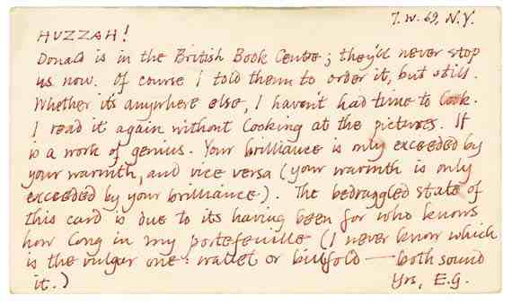 Letter from Edward Gorey to Peter F. Neumeyer