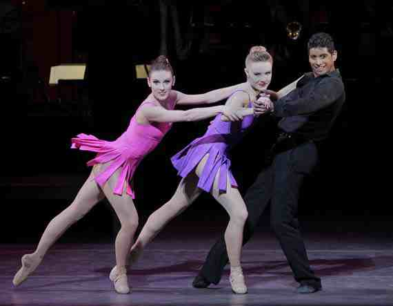 NYCB, Tiler Peck, Sara Mearns and Amar Ramasar in For the Love of Duke
