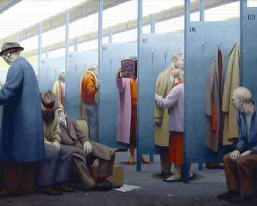 George Tooker: Waiting Room