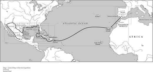 Four Shipwrecked Castaways Cross Sixteenth Century America 3