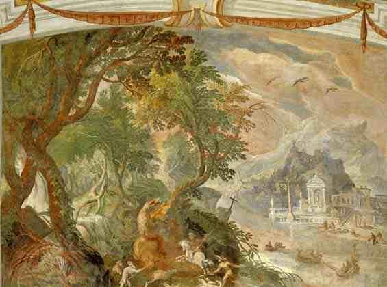 Paul Bril landscape after restoration