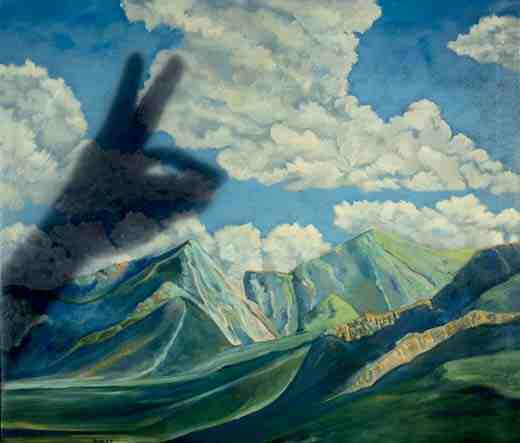 Tom Palmore: Taos School Painting With Rabbit