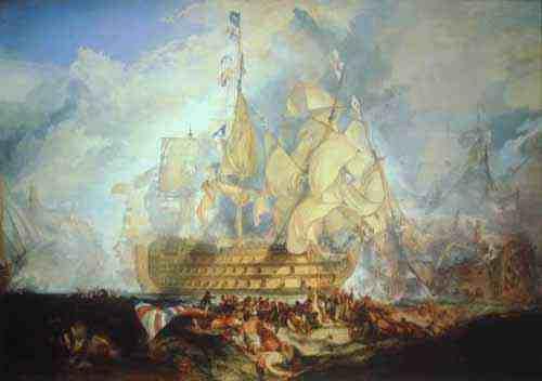 The Battle of Trafalgar by J.M.W. Turner