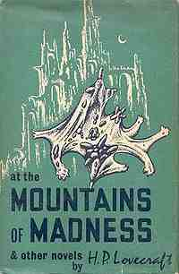 At The Mountains Of Madness - Cover by Lee Brown Coye - Arkham House, 1964.