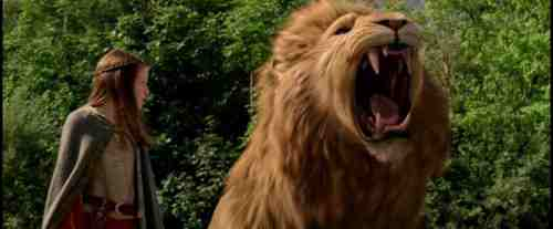 Chronicles of Narnia movie Lucy and Aslan