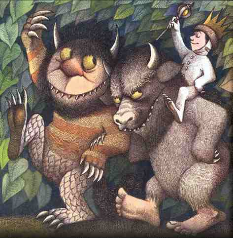 Where the Wild Things Are book cover Maurice Sendak
