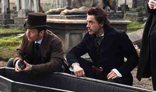 Sherlock Holmes (2009, directed by Guy Ritchie) - Robert Downey, Jr. and Jude Law