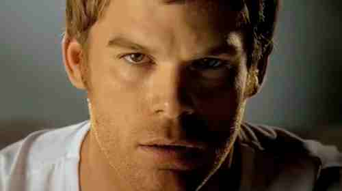 Michael C. Hall as Dexter in Dexter title sequence
