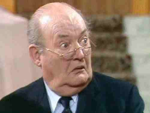 Arthur Brough as Mr. Ernest Grainger in Are You Being Served?