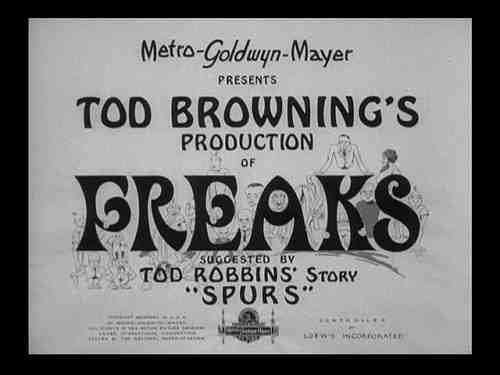Tod Browning's Freaks - Opening Title