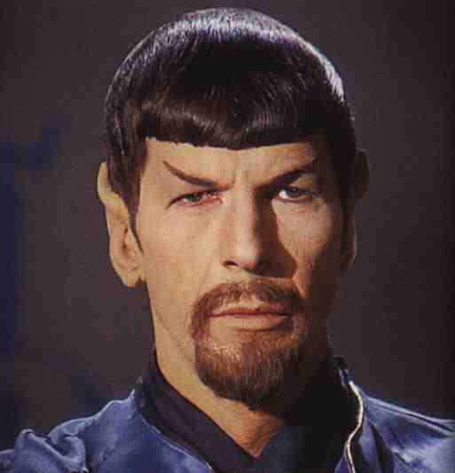 Leonard Nimoy as Mirror Spock in Mirror, Mirror from Star Trek: The Original Series