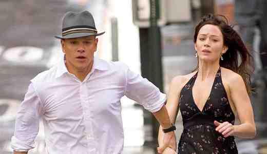 Matt Damon and Emily Blunt as David Norris and Elise Sellas in The Adjustment Bureau