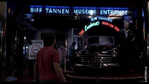The Biff Tannen Museum from Back To The Future 2
