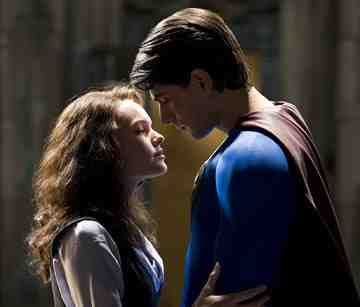 Brandon Routh as Superman and Kate Bosworth as Lois Lane in Superman Returns